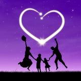 Family enjoying valentine's day Royalty Free Stock Image