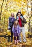 Family Enjoying Walk Stock Image