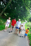 Family enjoying a walk Stock Photos