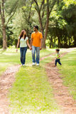 Family enjoying walk Royalty Free Stock Images