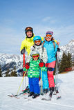 Family enjoying winter vacations. Royalty Free Stock Photos