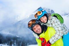 Family enjoying winter vacations. Royalty Free Stock Photo