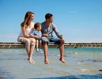 Family Enjoys the Beach Stock Photo