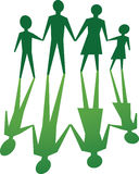 Family with environmental value Stock Photo