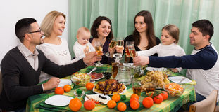 Family event at  table Royalty Free Stock Images