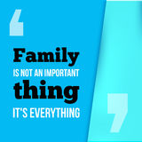 Family is everything. Can be used for housewarming posters, greeting cards, banners, home decorations.Vector Royalty Free Stock Images