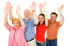 Family Excitement Royalty Free Stock Photo