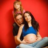 Family expecting new baby Royalty Free Stock Photo