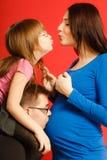 Family expecting new baby Royalty Free Stock Photos