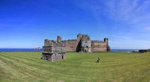 Family exploresTantallon Castle bass rock scotland Stock Images