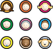 Family face icon cartoon Royalty Free Stock Image