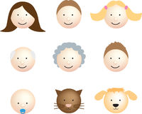 Family face icon modern Royalty Free Stock Image