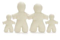 Family of faceless dummy soft dolls Stock Photography