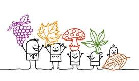 Family & fall Stock Image