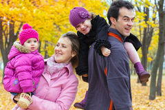 Family fall Royalty Free Stock Images