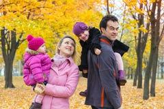 Family fall Stock Image