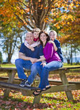 Family in fall Stock Photo