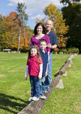 Family in fall Royalty Free Stock Image