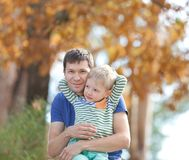Family at fall Royalty Free Stock Photos