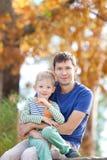 Family at fall Stock Photography