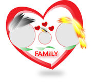 Family falling in love. Mother father and one son falling in love stock photography