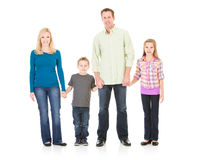 Family: Family Standing Together and Holding Hands Stock Images