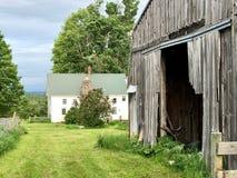 Vermont Farm Near Middlebury stock photo