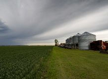 The Family Farm Landscape:. Landscape of the family farm on a rainy day Royalty Free Stock Images