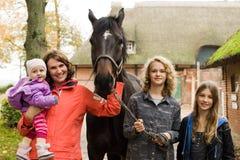 Family on the farm Royalty Free Stock Image