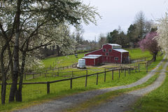Family farm in rural Oregon. Stock Photos