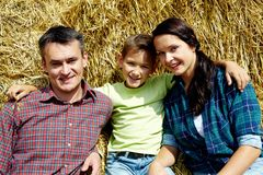 Family of farmers Royalty Free Stock Image