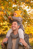 Family father in autumn season royalty free stock images