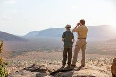 Family safari in Africa Royalty Free Stock Image
