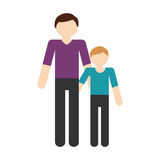 Family father child son togetherness. Illustration eps 10 Royalty Free Stock Photography