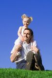 Family, father and daughter stock photography