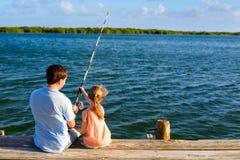 Family fishing Royalty Free Stock Photography