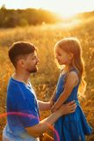 Family. Father and daughter. Leisure royalty free stock images