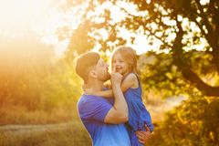 Family. Father and daughter. royalty free stock images
