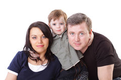 Family. Father, mother and boy Stock Photos