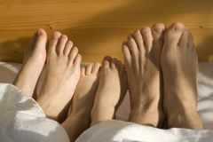 Family feet Royalty Free Stock Photography