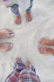 Family feet on the sand Royalty Free Stock Photography