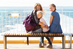 Family on the ferry Stock Image