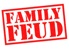 FAMILY FEUD. Red Rubber Stamp over a white background Royalty Free Stock Images