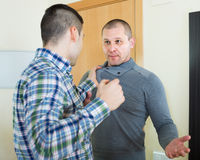 Family fight between two brothers Stock Images