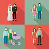 Family  figure collection Royalty Free Stock Images