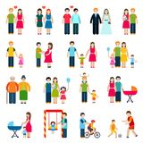 Family Figures Icons Stock Image