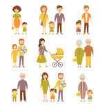 Family Figures Icons Set Royalty Free Stock Photography