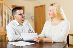 Family filling questionnaire for employee Royalty Free Stock Image
