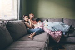Family Film Time Royalty Free Stock Image
