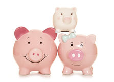 Family finance piggy banks Stock Photography